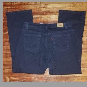 LEVI'S retro vintage black 515 denim bootcut jeans